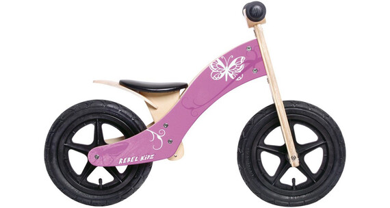 "Rebel Kidz Wood Air - Draisienne Enfant - 12"" Schmetterling rose"